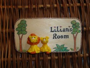 3d Lion Jungle Theme Children's Bedroom Playroom Wendy House Play House  Treehouse Sign Unique Handmade Personalised